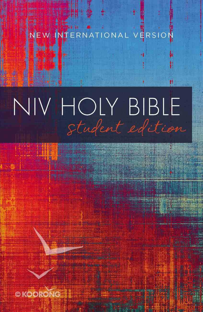 NIV Student Outreach Bible Red Blue Graphic Paperback