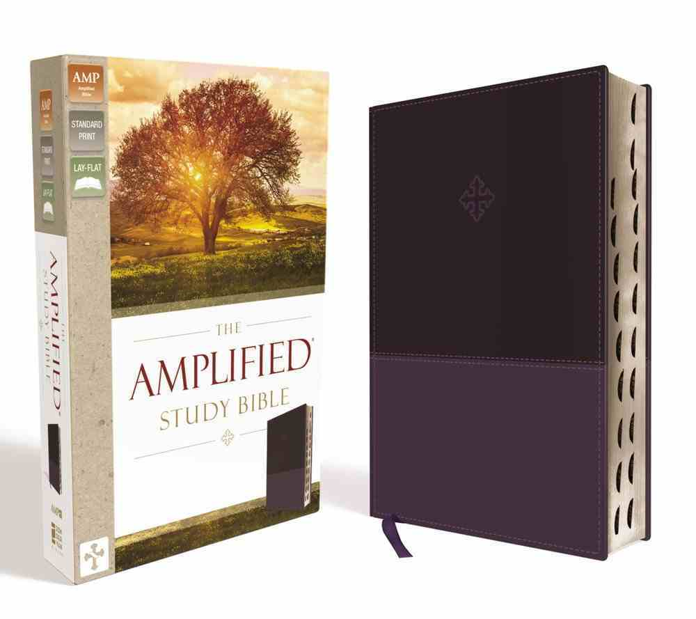Amplified Study Bible Purple Indexed (Black Letter Edition) Premium Imitation Leather