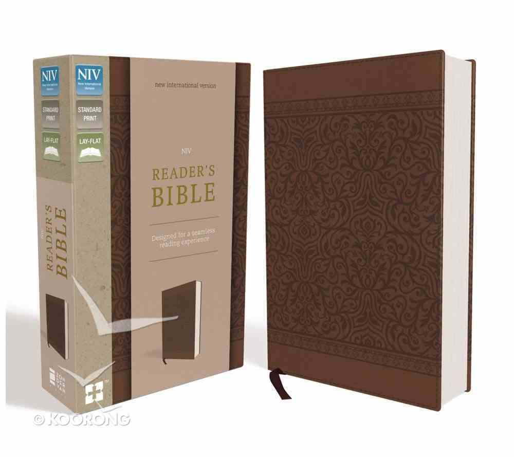 NIV Reader's Bible Brown (Black Letter Edition) Premium Imitation Leather