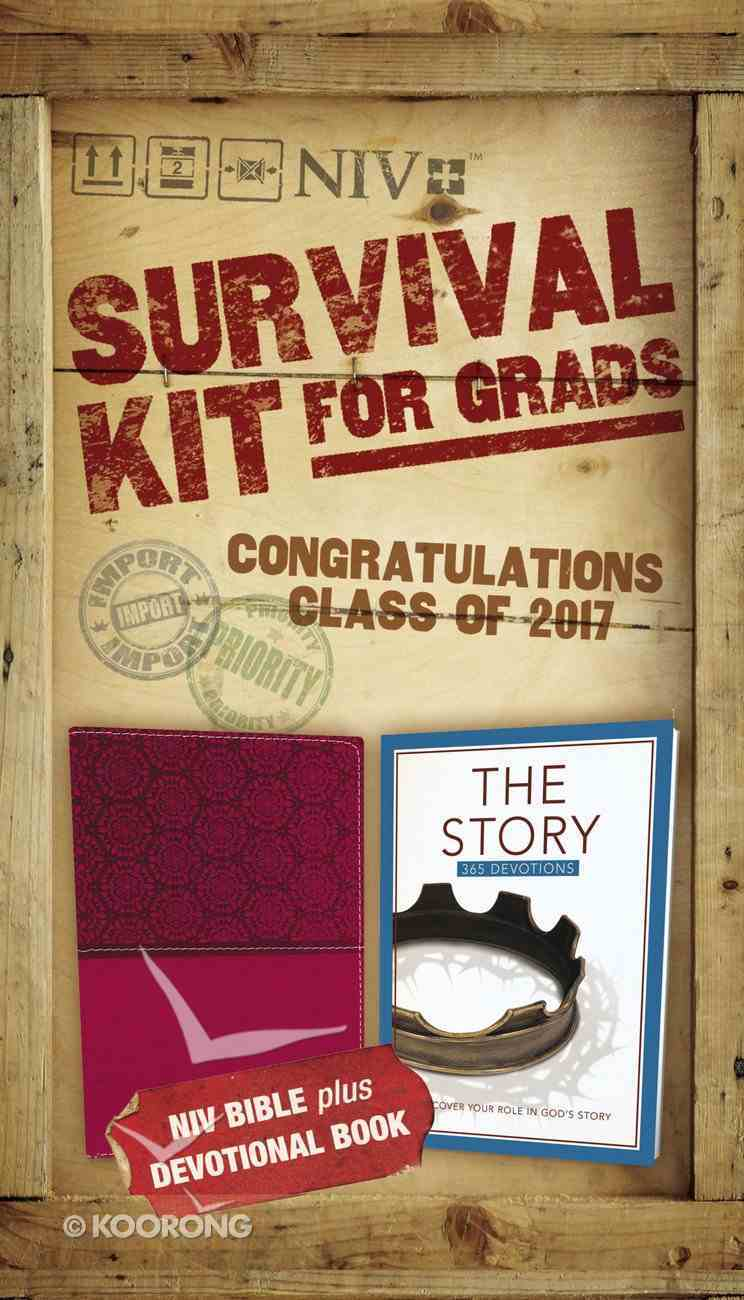 NIV 2017 Survival Kit For Grads Girls' Edition Burgundy Red Letter Edition Pack