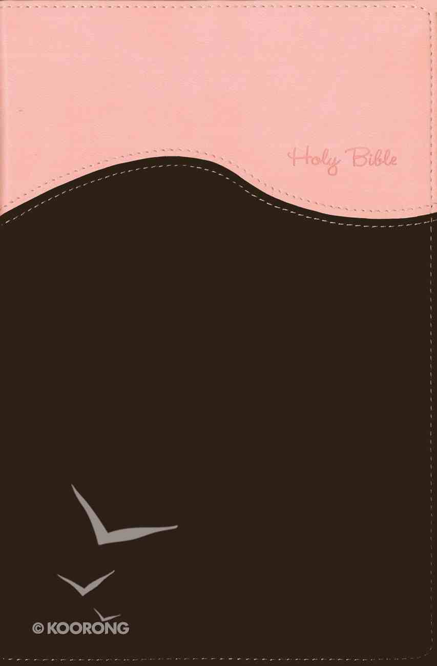 NIV Gift Bible Indexed Pink/Chocolate (Red Letter Edition) Premium Imitation Leather