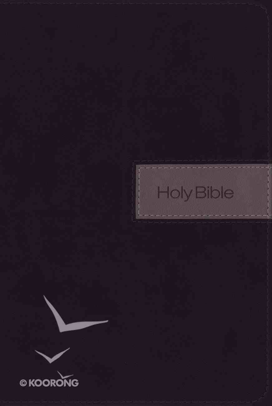 NIV Gift Bible Indexed Black/Gray (Red Letter Edition) Premium Imitation Leather