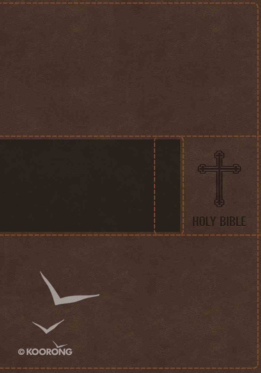 NIV Gift Bible Indexed Brown (Red Letter Edition) Premium Imitation Leather