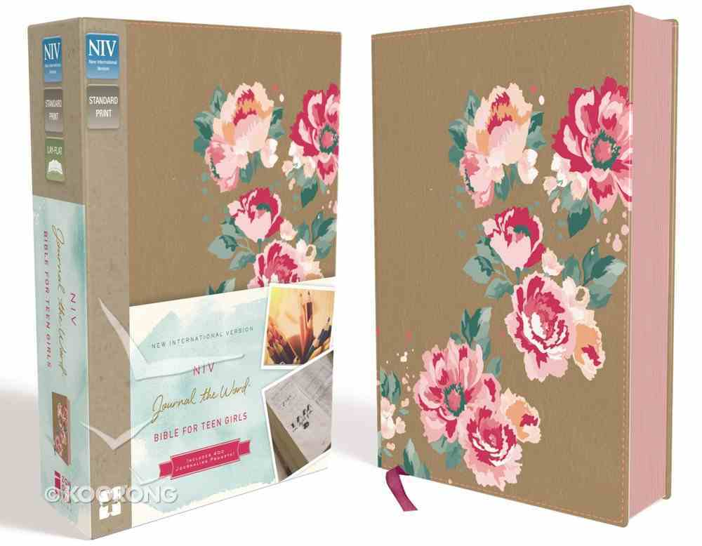 NIV Journal the Word Bible For Teen Girls Gold/Floral (Red Letter Edition) Imitation Leather