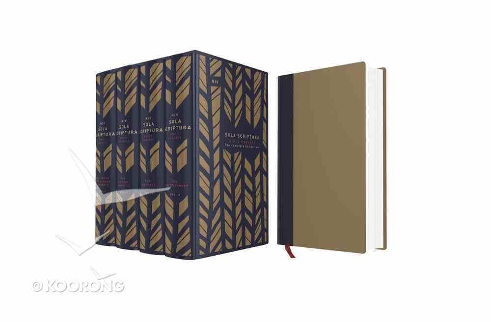 NIV the Sola Scriptura Bible Project Navy/Tan Complete 4 Volume Set (Black Letter Edition) Hardback