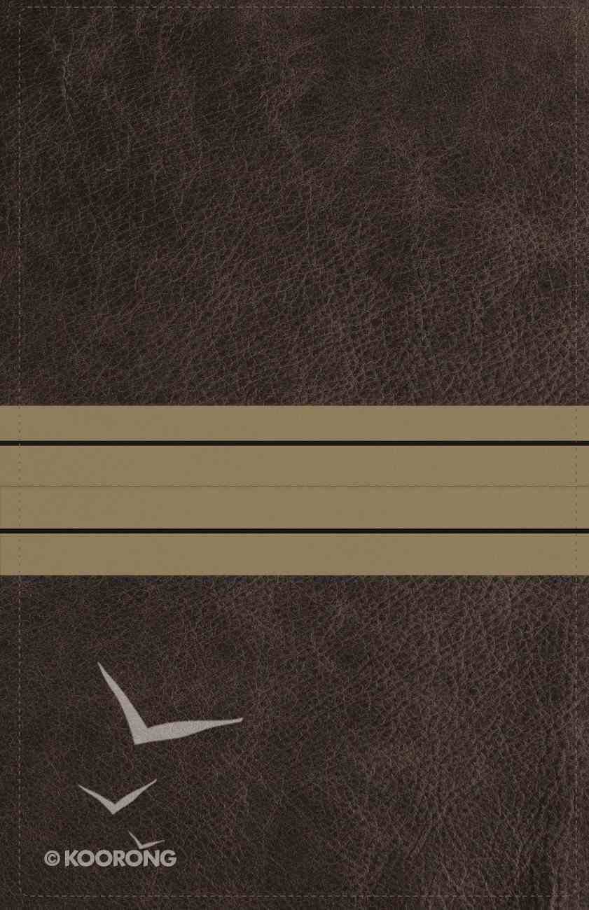 NIV Thinline Bible Giant Print Brown/Tan (Red Letter Edition) Premium Imitation Leather