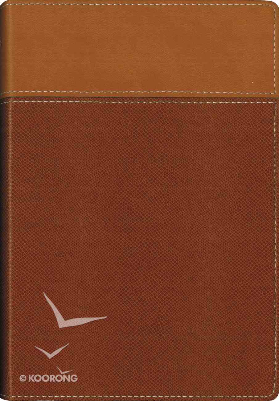 NIV Thinline Bible Tan (Red Letter Edition) Premium Imitation Leather