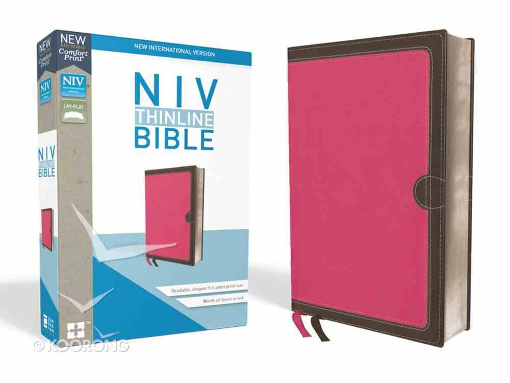 NIV Thinline Bible Pink (Red Letter Edition) Premium Imitation Leather