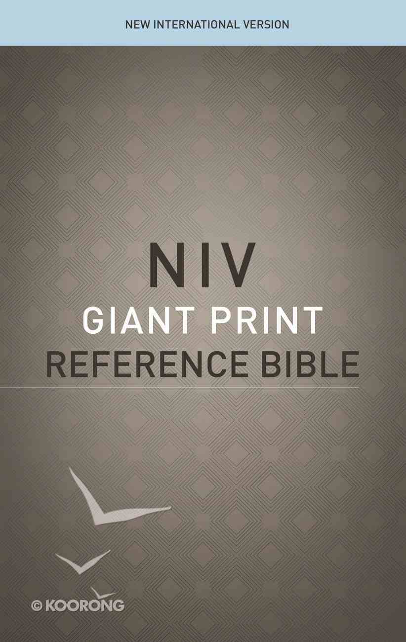 NIV Reference Bible Giant Print (Red Letter Edition) Paperback