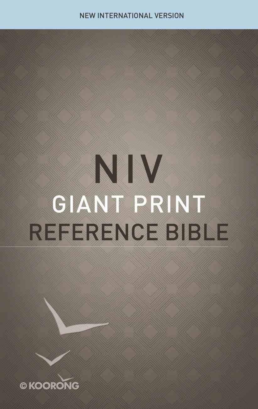 NIV Reference Bible Giant Print (Red Letter Edition) Hardback
