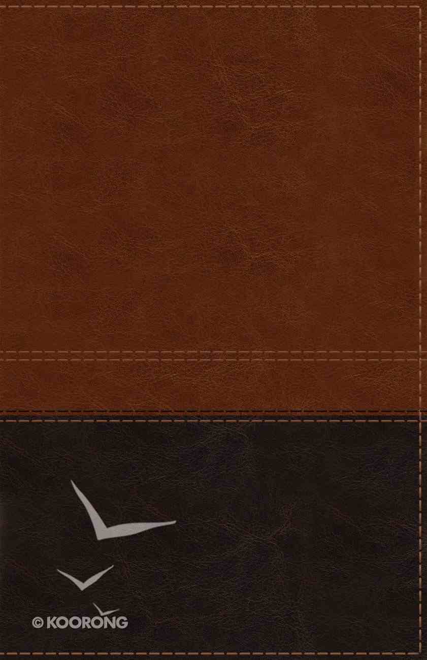 NIV Reference Bible Giant Print Brown (Red Letter Edition) Premium Imitation Leather