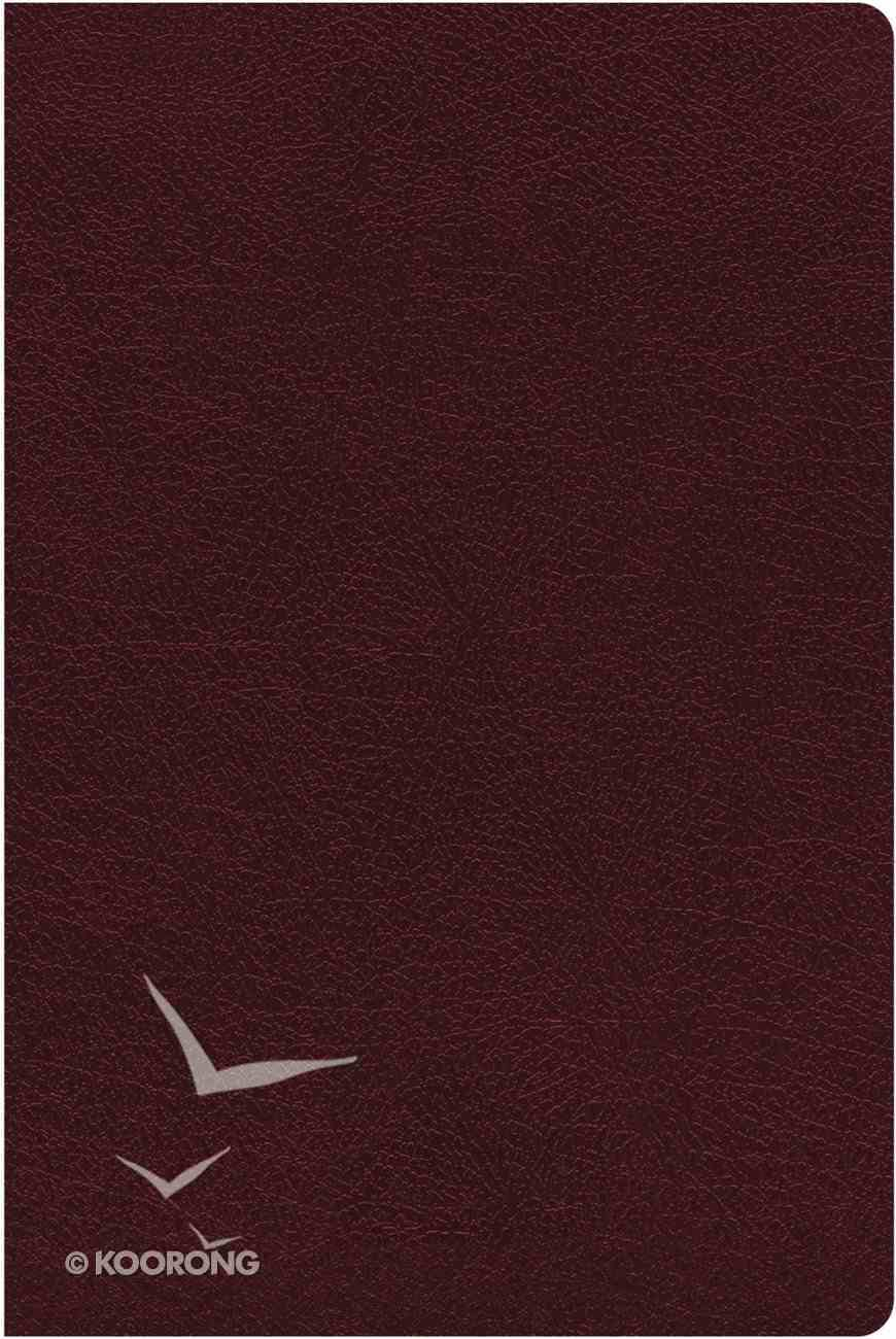 NIV Thinline Reference Bible Indexed Large Print Burgundy (Red Letter Edition) Bonded Leather