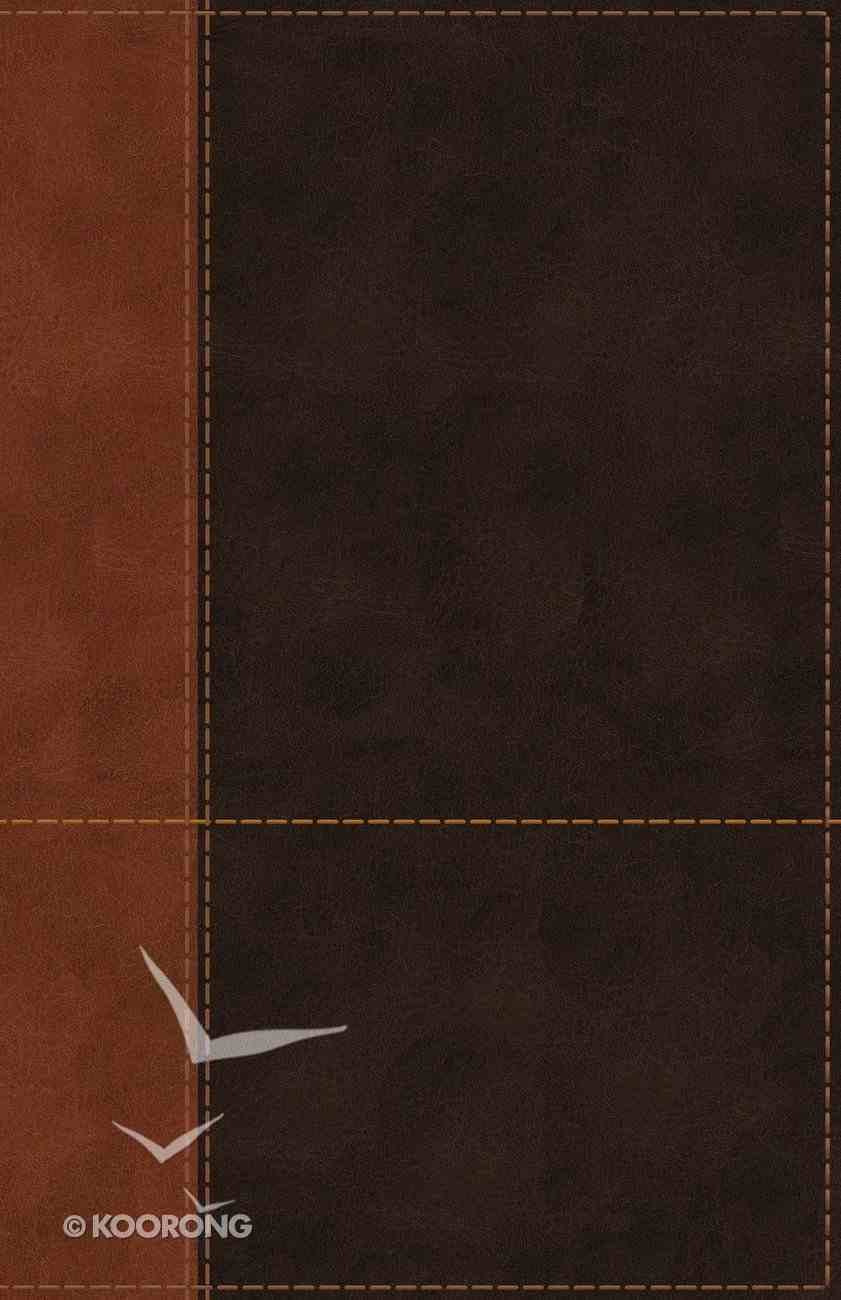 NIV Personal Size Reference Bible Large Print Brown Indexed (Red Letter Edition) Premium Imitation Leather