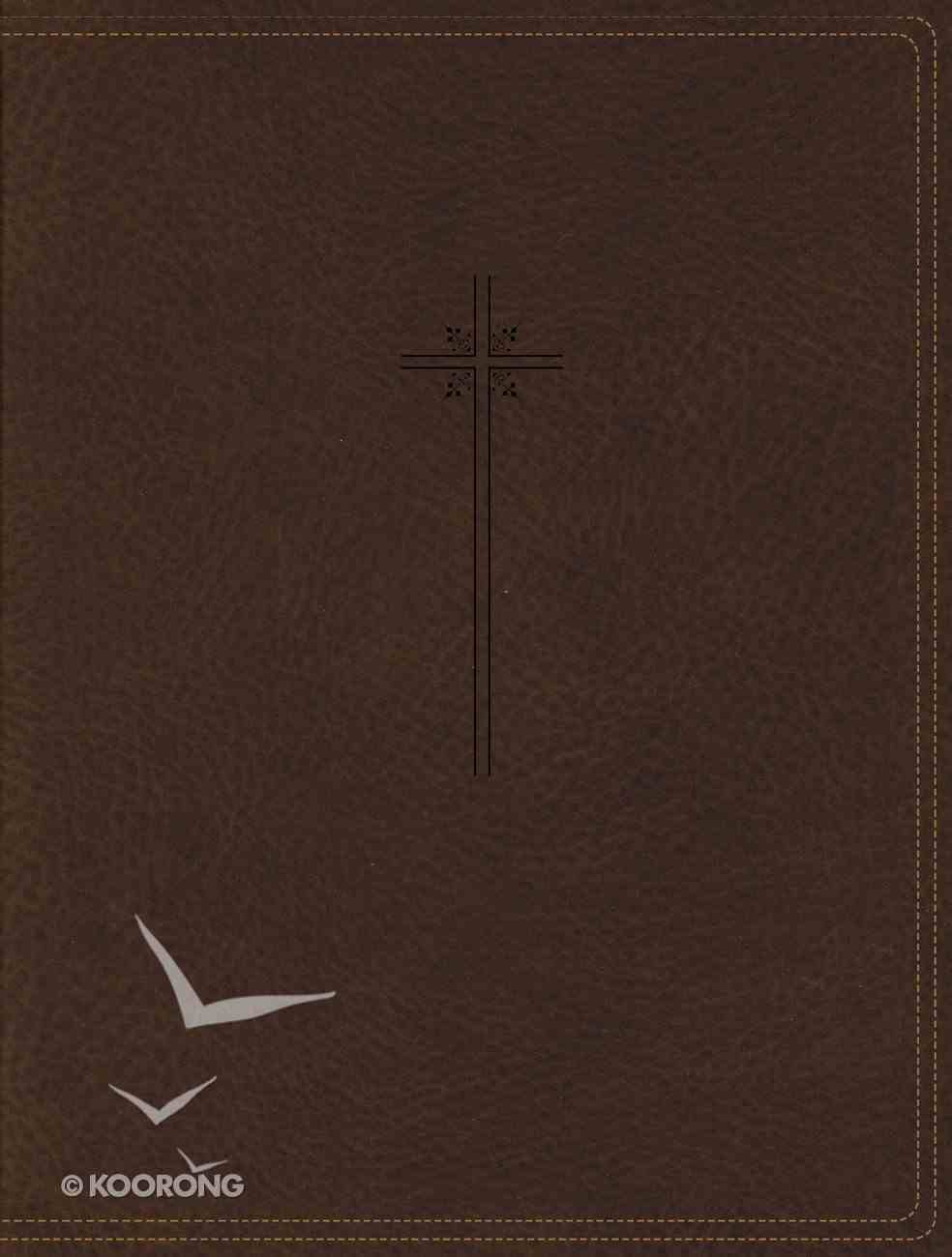 NIV Journal the Word Bible Brown (Red Letter Edition) Premium Imitation Leather