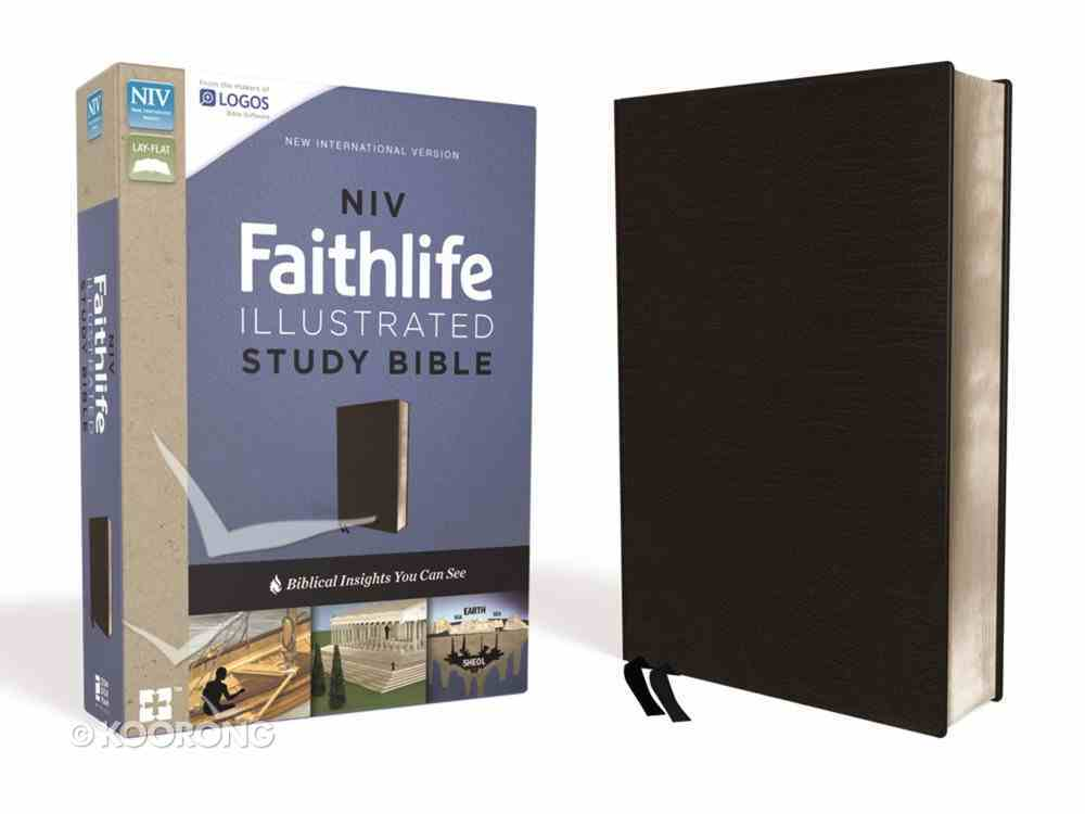 NIV Faithlife Illustrated Study Bible Indexed Black Bonded Leather
