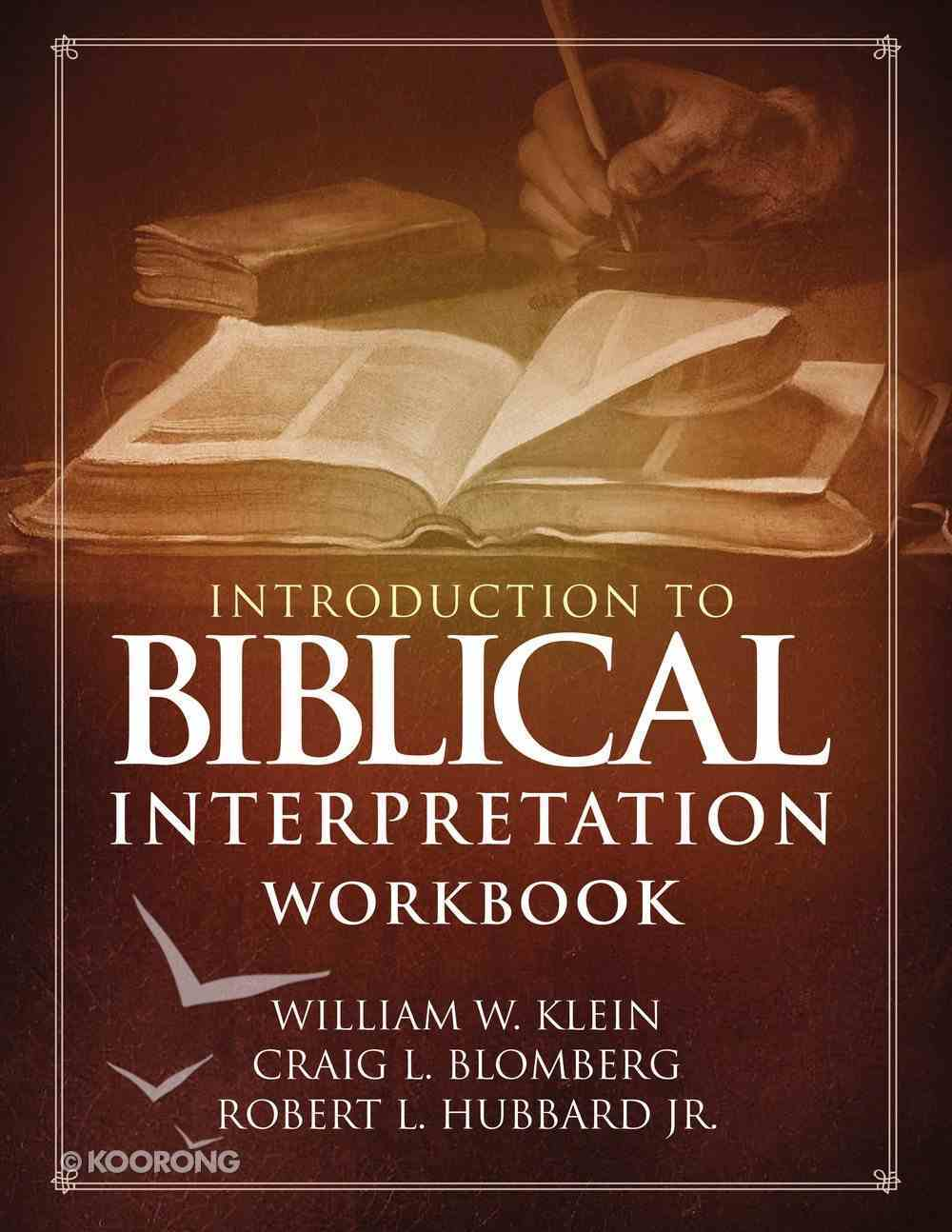 Introduction to Biblical Interpretation (Workbook) Paperback