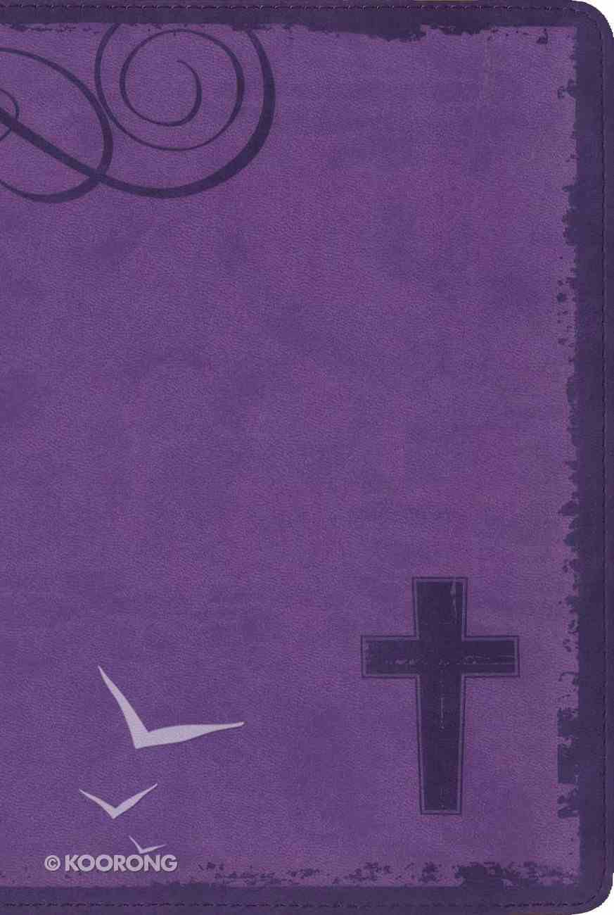 NIV Rock Solid Faith Study Bible For Teens Violet (Black Letter Edition) Premium Imitation Leather