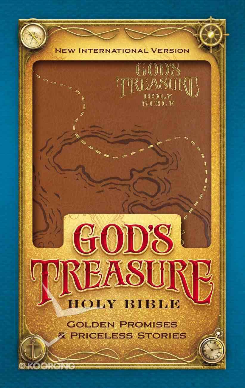 NIV God's Treasure Holy Bible Dark Tan (Black Letter Edition) Premium Imitation Leather