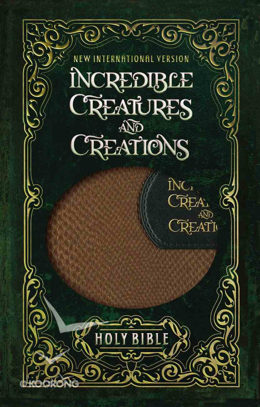 NIV Incredible Creatures and Creations Holy Bible (Black Letter Edition) Premium Imitation Leather