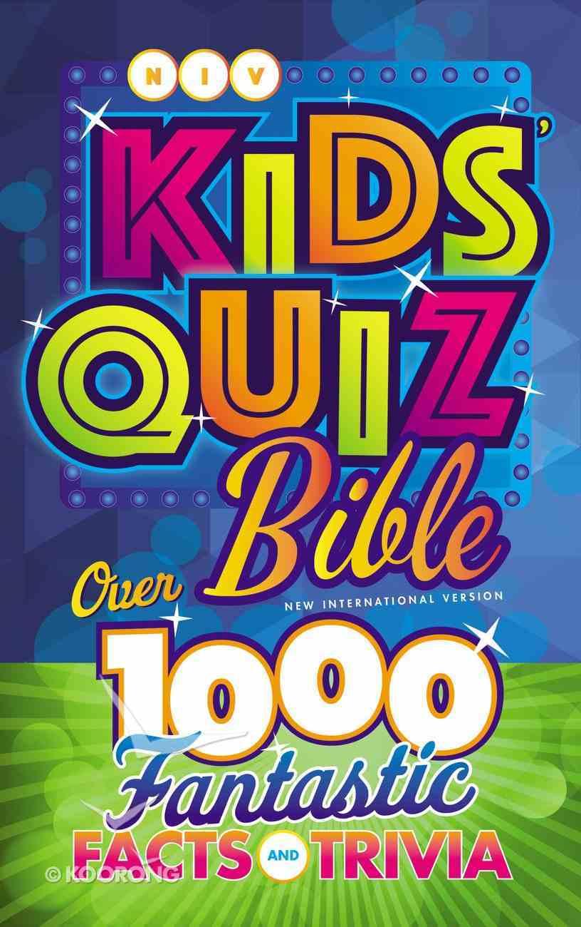 NIV Kids' Quiz Bible (Black Letter Edition) Hardback