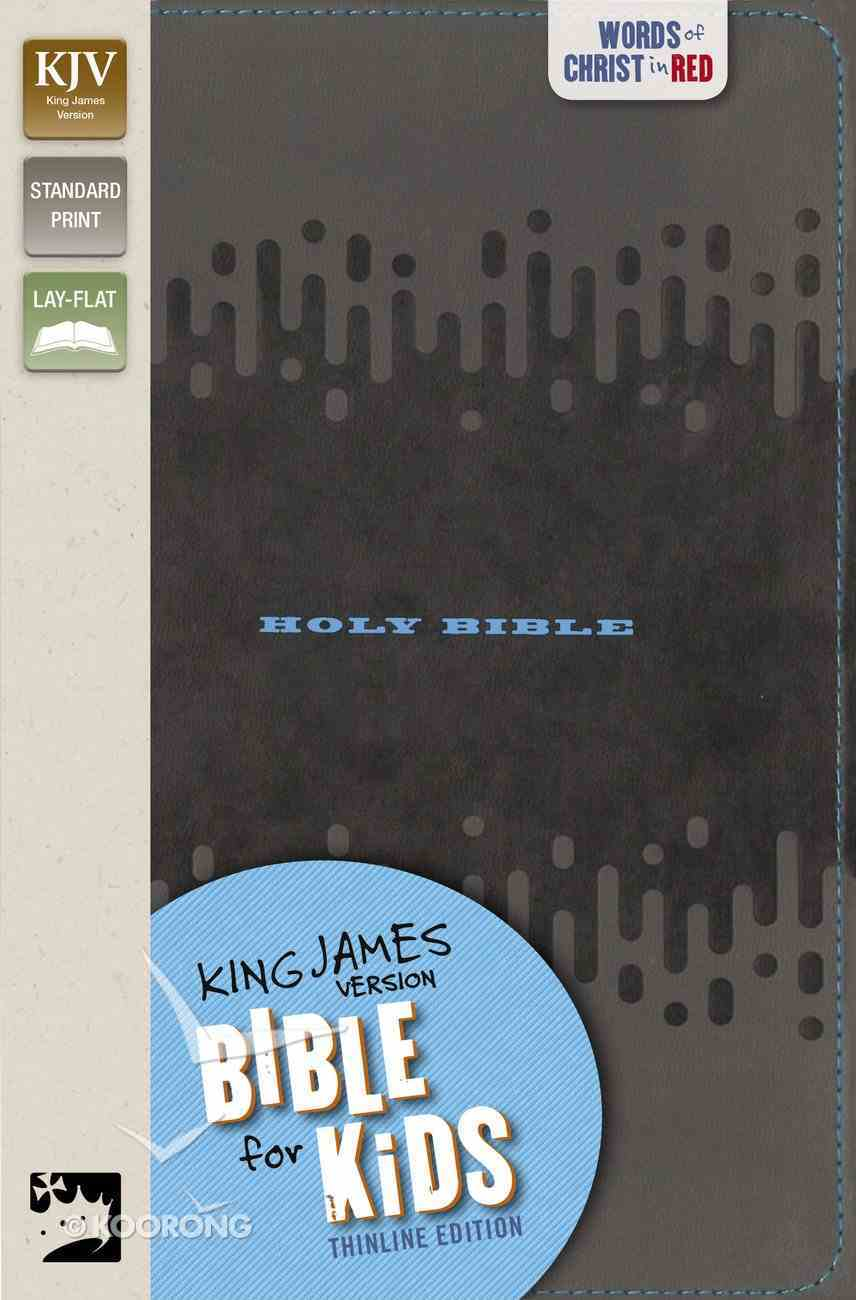 KJV Bible For Kids Charcoal Thinline Edition (Red Letter Edition) Premium Imitation Leather