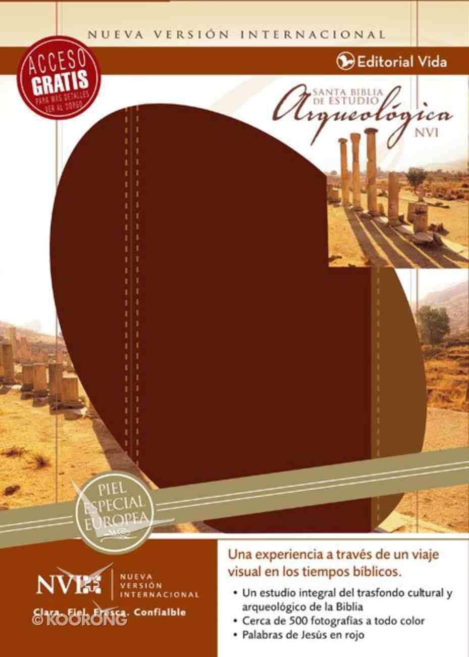 Nvi Santa Biblia De Estudio Arqueolgica (Red Letter Edition) (Nvi Archaeological Study Bible) Imitation Leather