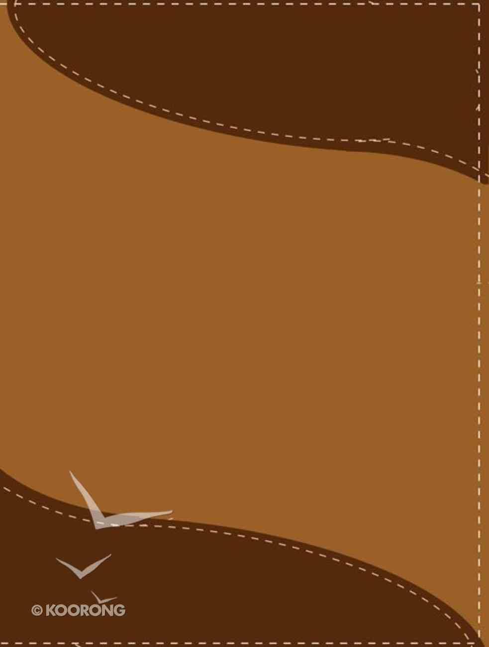 Rvr1960/Niv Biblia Bilingue Dark Brown/Light Brown (Bilingual Bible) Imitation Leather