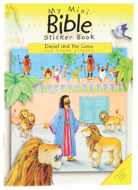 Product: My Mini Bible Sticker Book: Daniel And The Lions Image