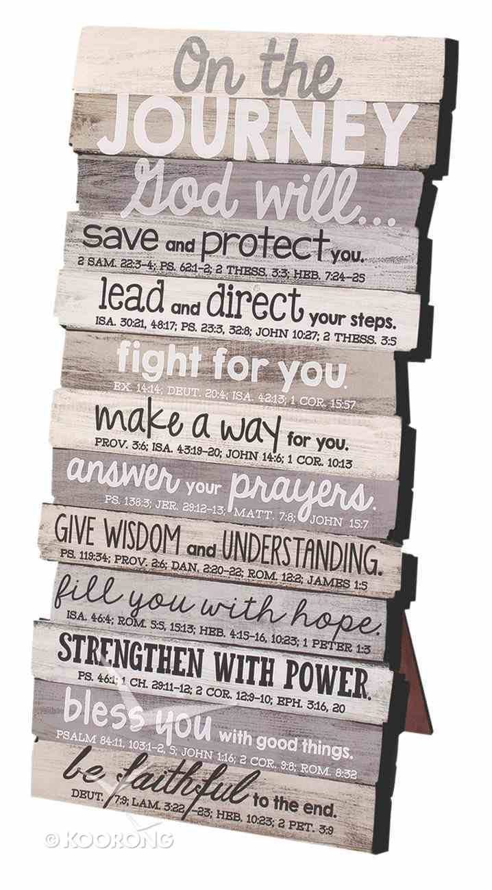 Stacked Wood Plaque: Journey, Small (Various Scriptures) Plaque