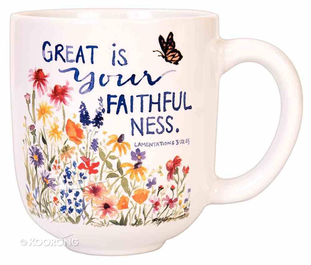 Gracelaced Mug: Great is Your Faithfulness (Lamentations 3:22-23) Homeware