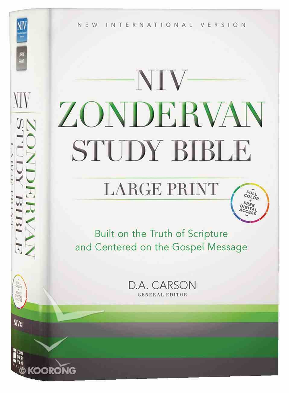 NIV Zondervan Study Bible Full Colour Large Print Hardback