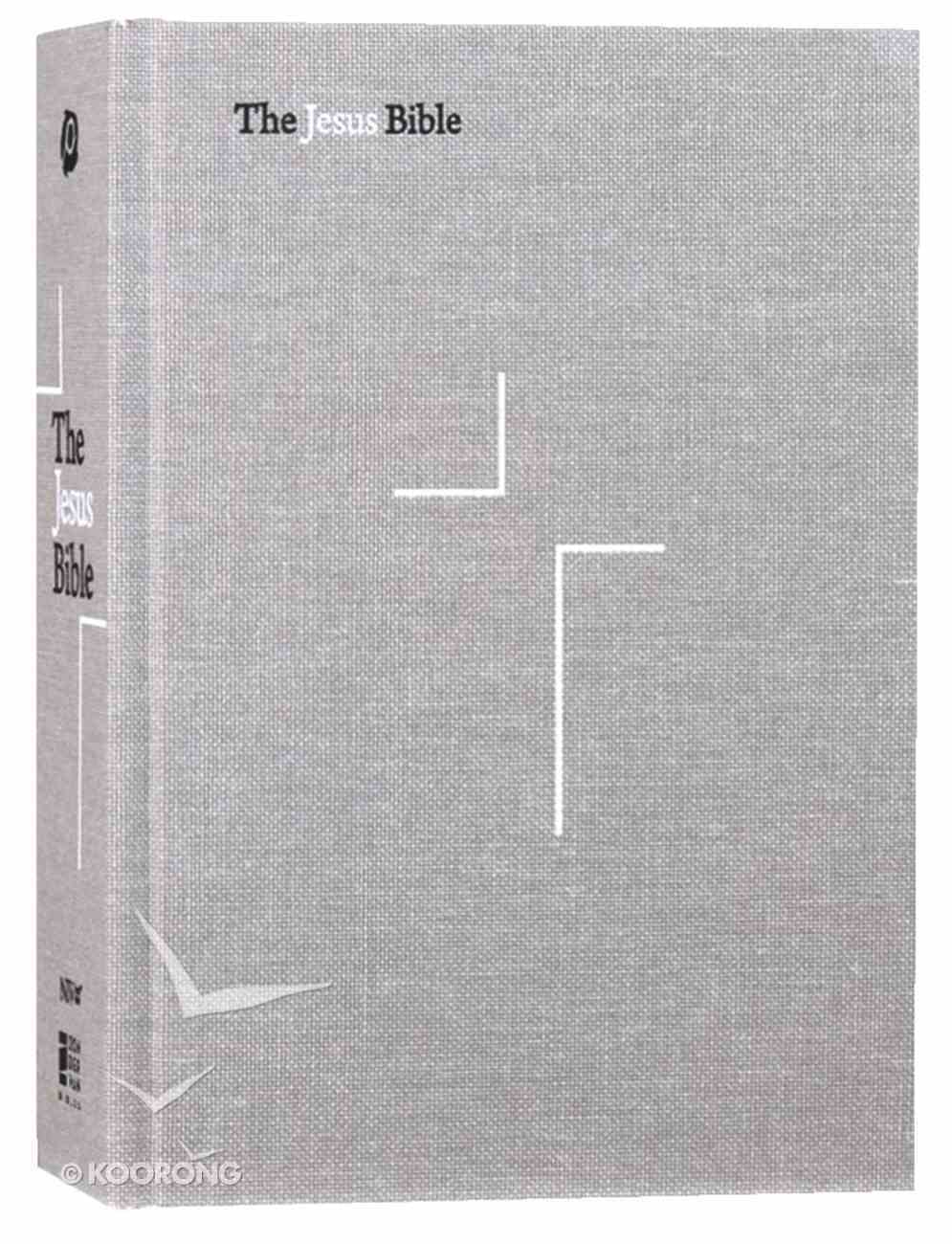NIV the Jesus Bible Gray Linen (Black Letter Edition) Hardback