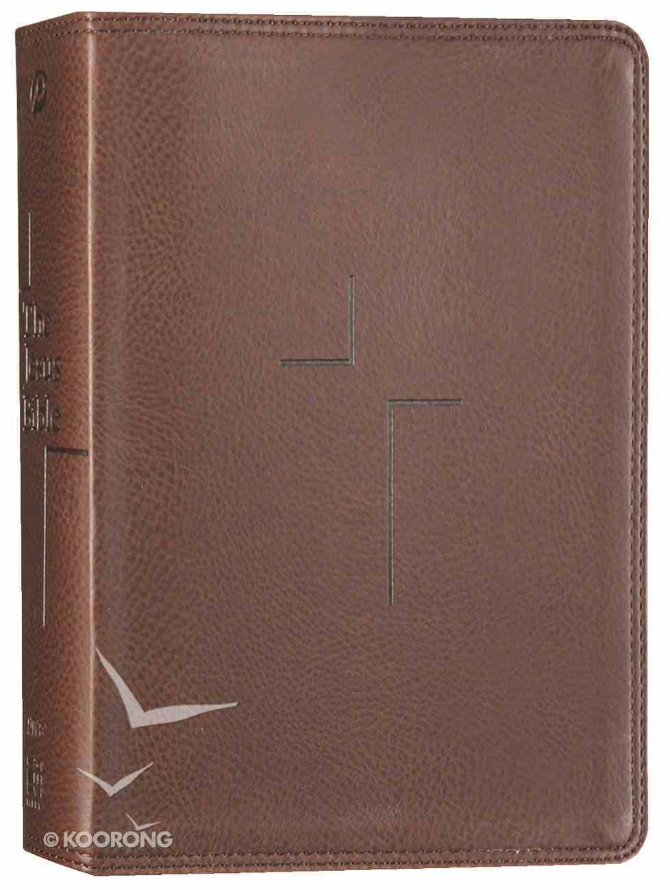 NIV the Jesus Bible Brown (Black Letter Edition) Premium Imitation Leather