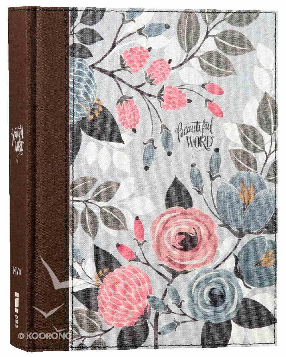 NIV Beautiful Word Bible Floral (Black Letter Edition) Hardback
