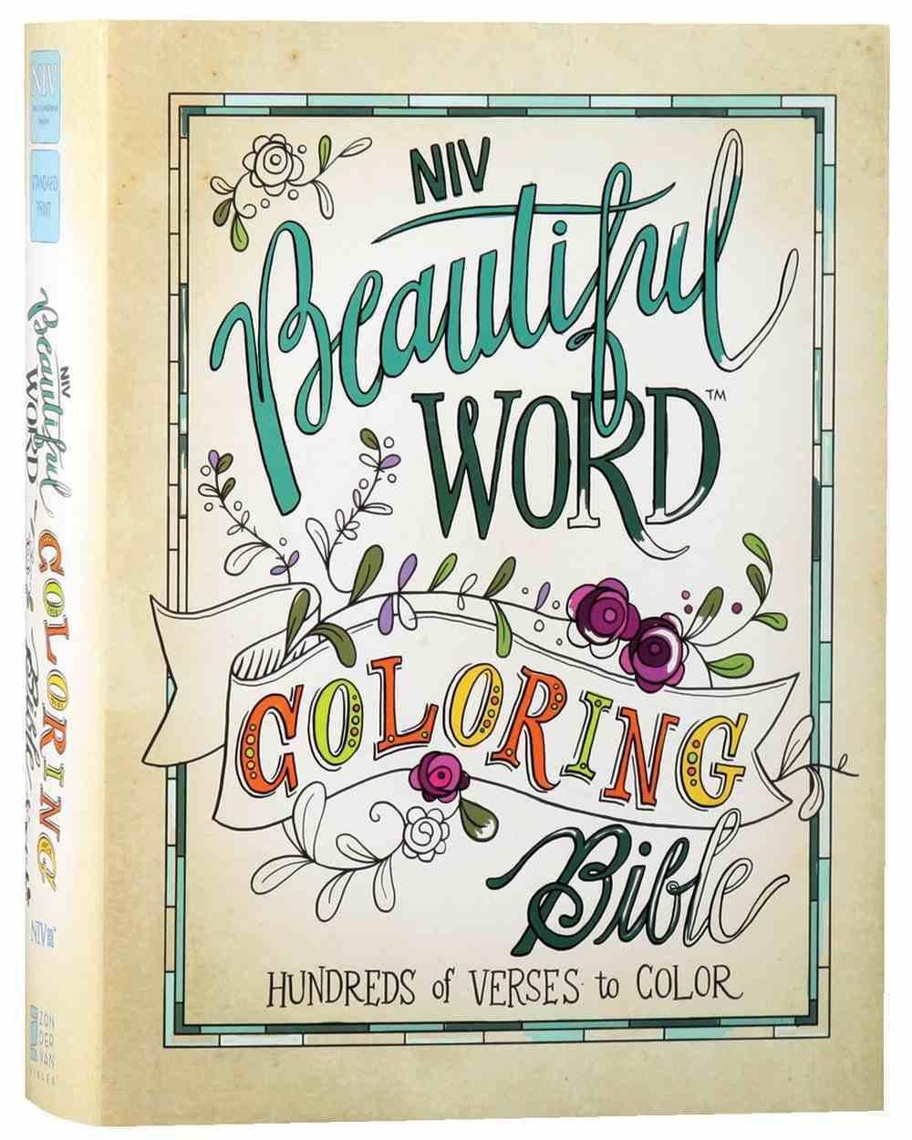 NIV Beautiful Word Coloring Bible (Black Letter Edition) Hardback