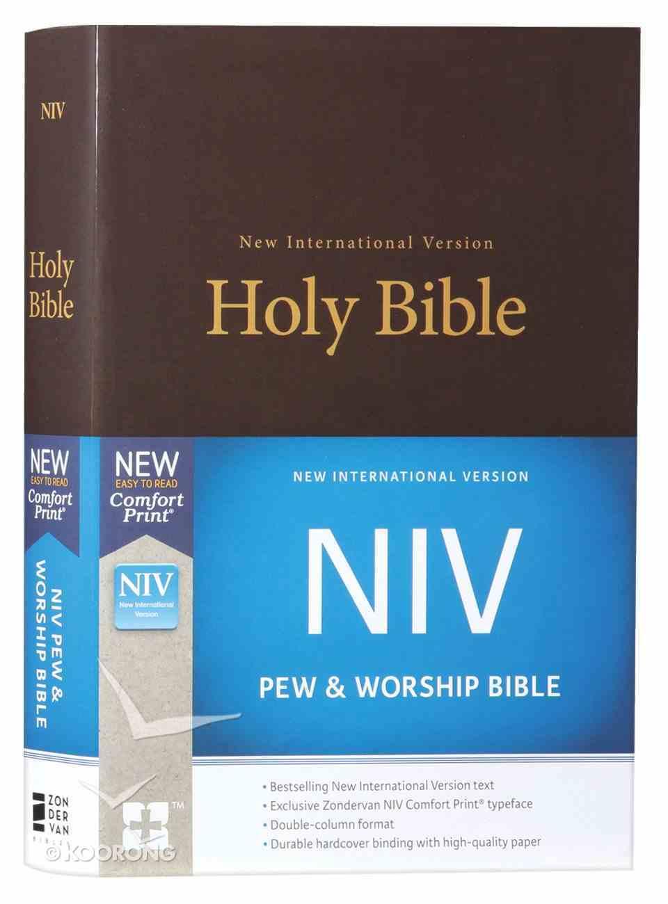 NIV Pew and Worship Bible Brown (Black Letter Edition) Hardback