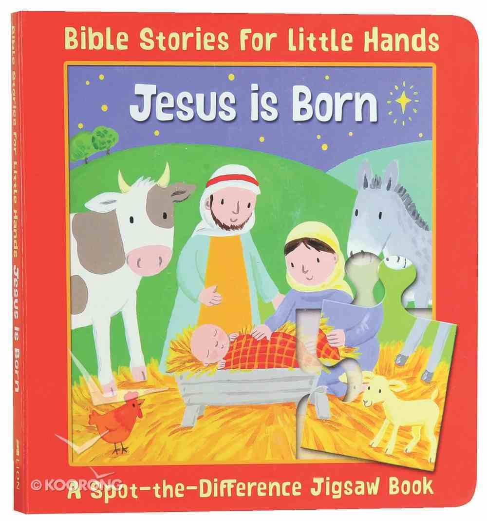 Spot-The-Difference: Jesus is Born (Jigsaw Book) (Bible Stories For Little Hands Series) Board Book