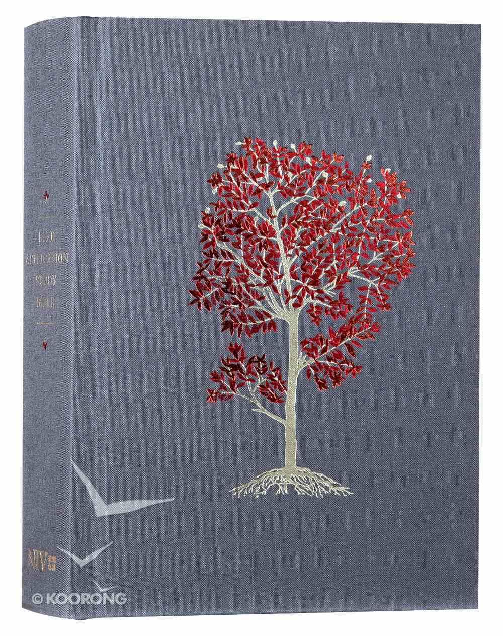 NIV Life Application Study Bible Deluxe Linen Flourishing Arbor (Red Letter Edition) Hardback