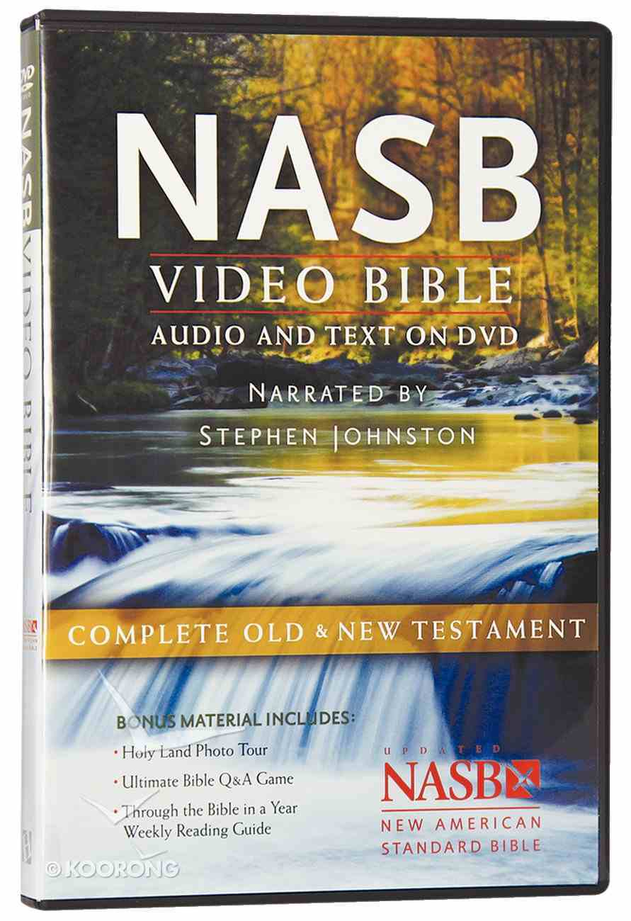 NASB Video Bible Narrated By Stephen Johnston (Audio And Text On Dvd Voice Only) DVD