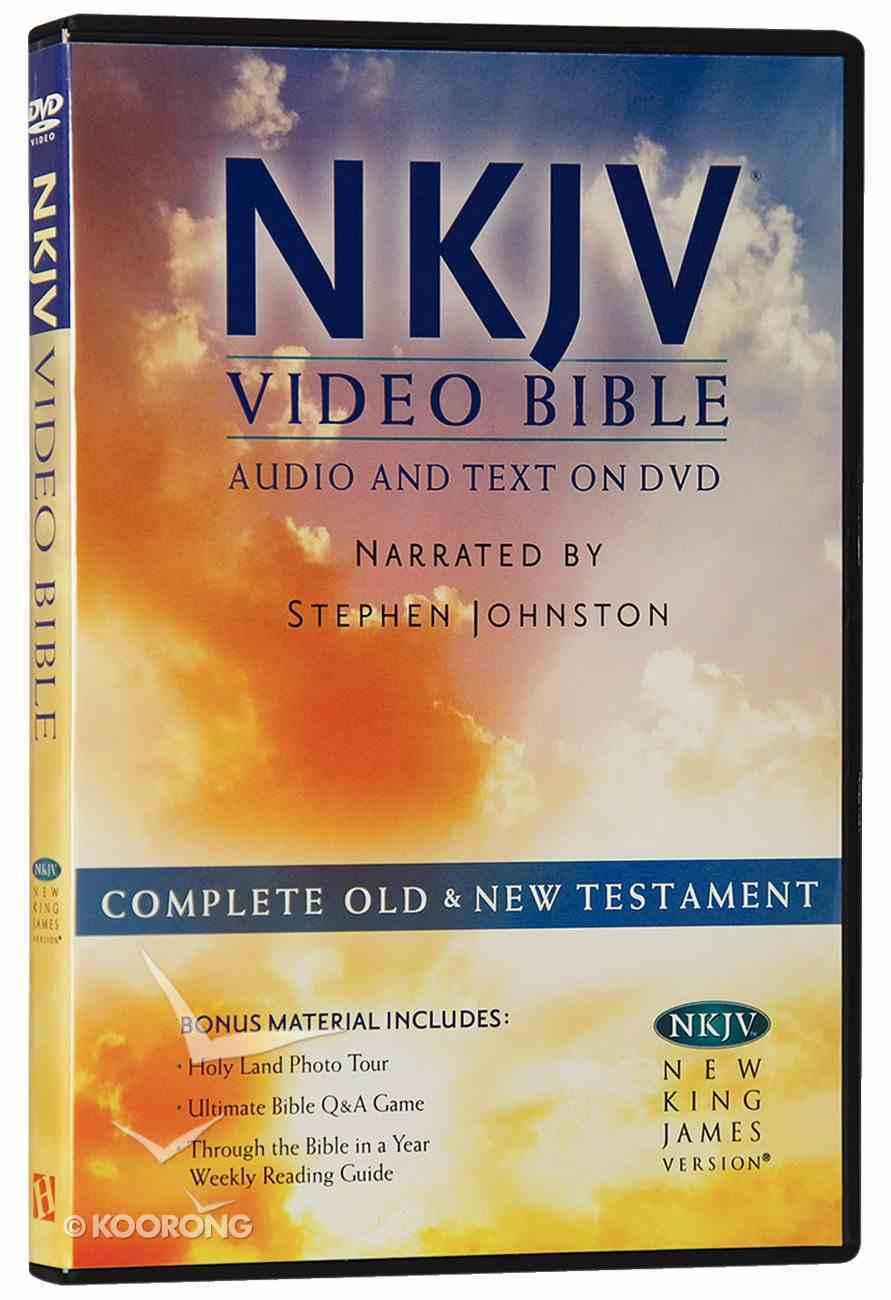 NKJV Video Bible Narrated By Stephen Johnston (Audio And Text On Dvd Voice Only) DVD
