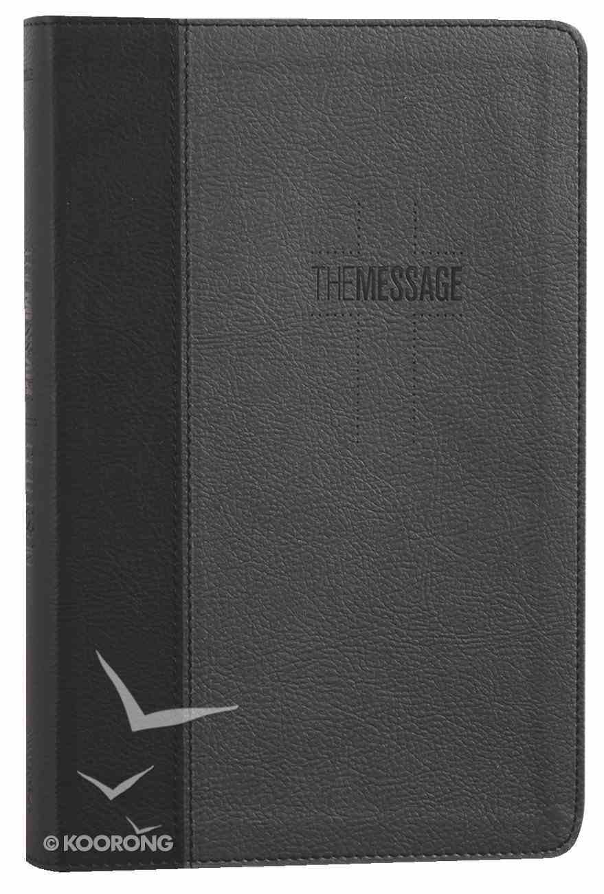 Message Deluxe Gift Bible Black Slate (Black Letter Edition) Imitation Leather