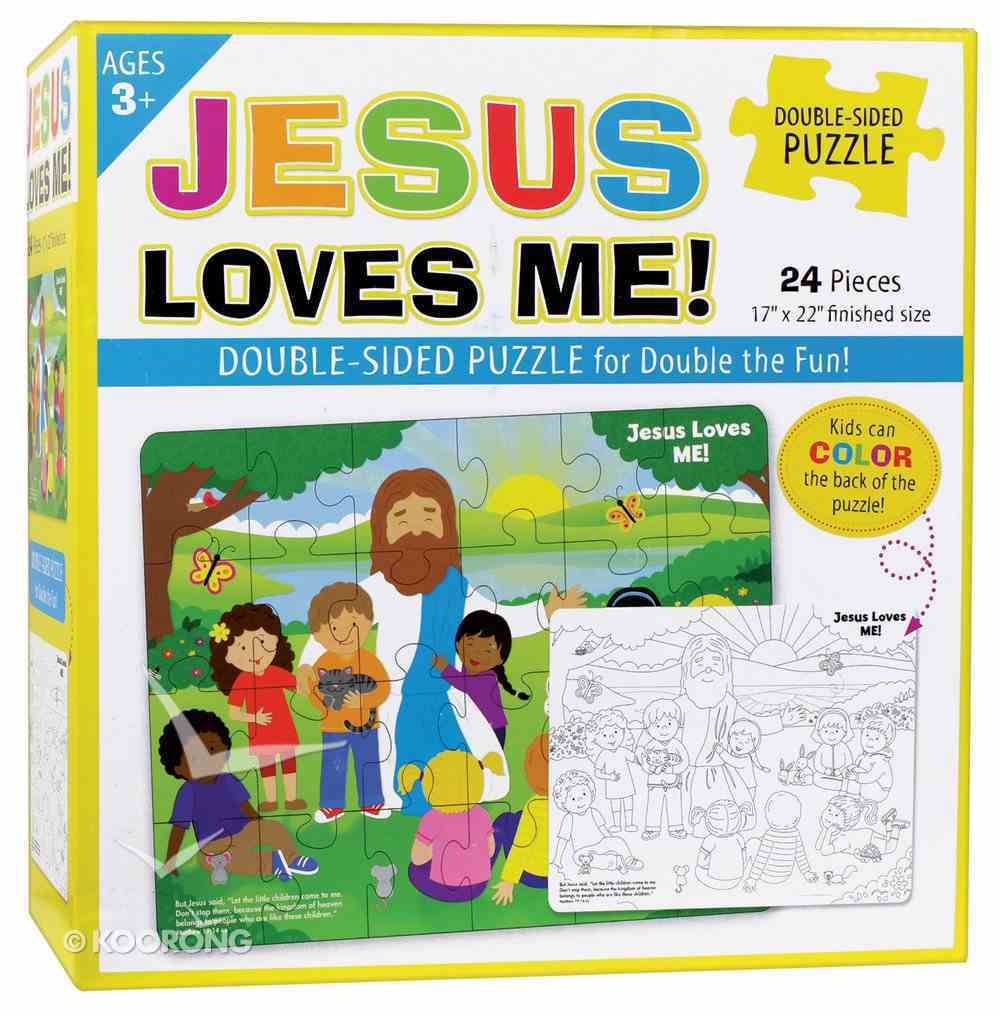 Jesus Loves Me Double-Sided Puzzle Game
