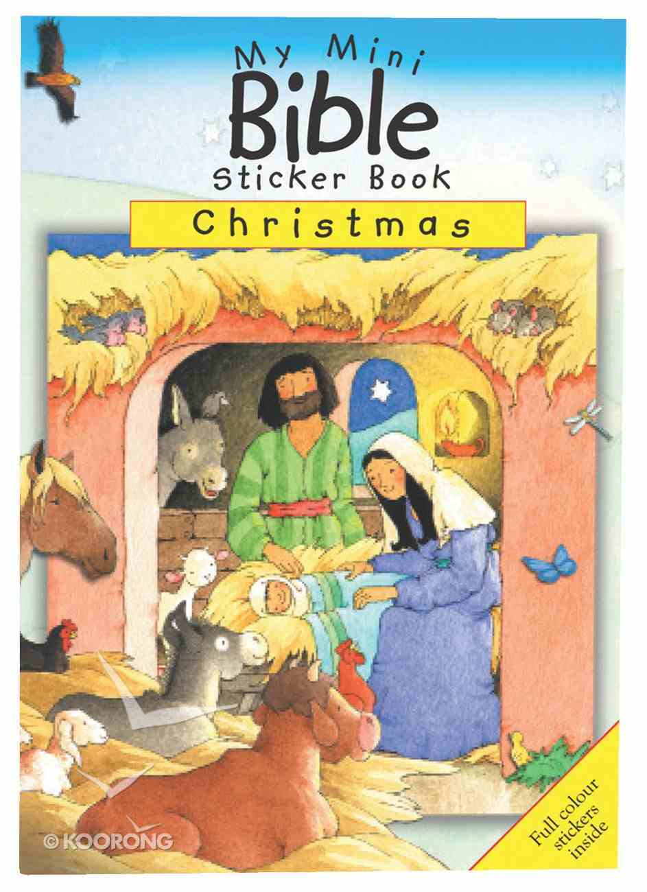 My Mini Bible Sticker Book: Christmas Paperback