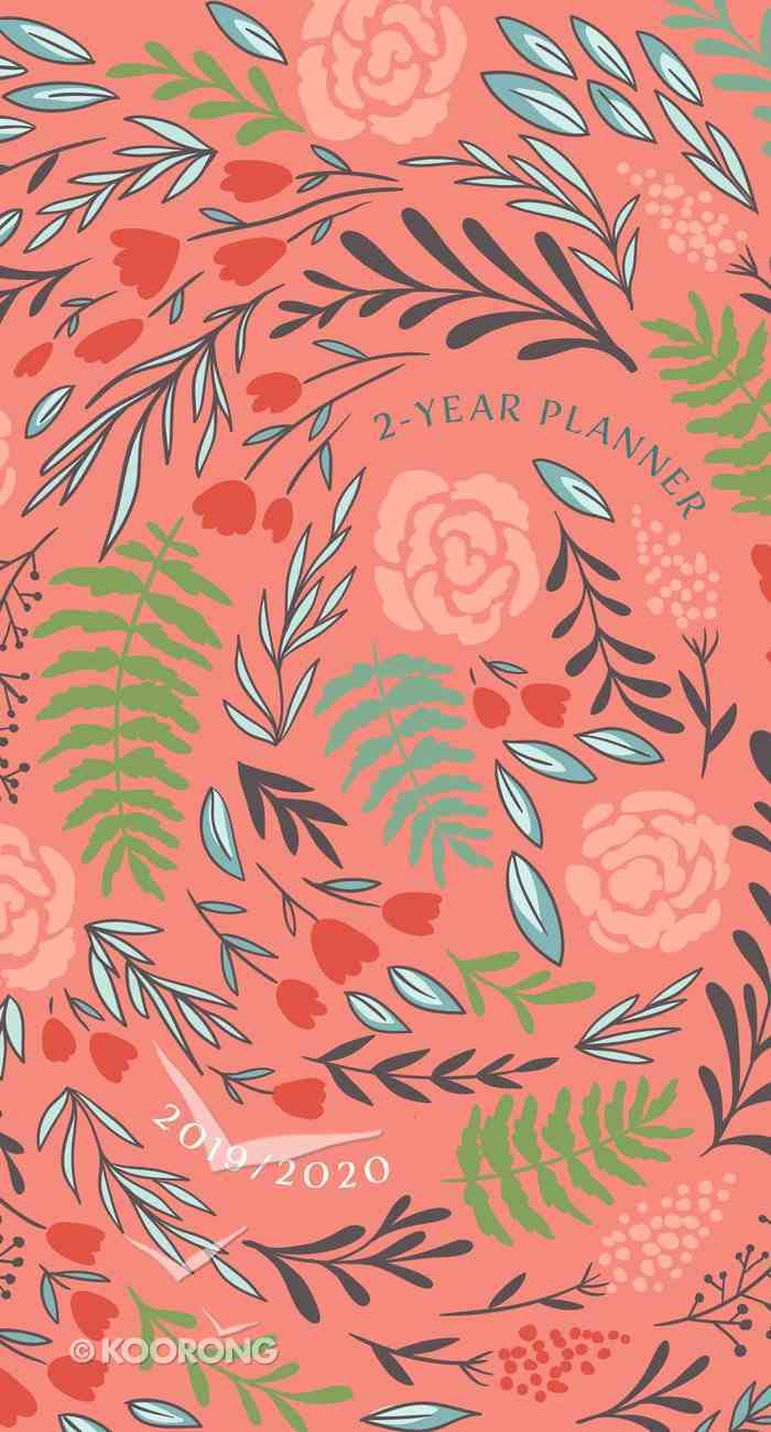 2019/2020 2 Year Pocket Diary/Planner: Coral/Floral Paperback