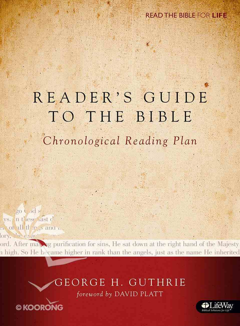 Reader's Guide to the Bible: A Chronological Reading Plan Paperback