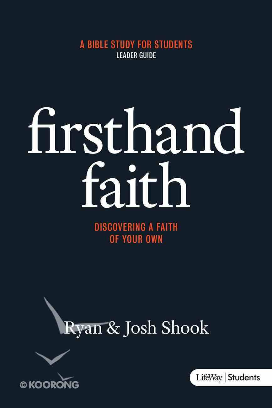 Firsthand Faith (Leader Guide) Paperback