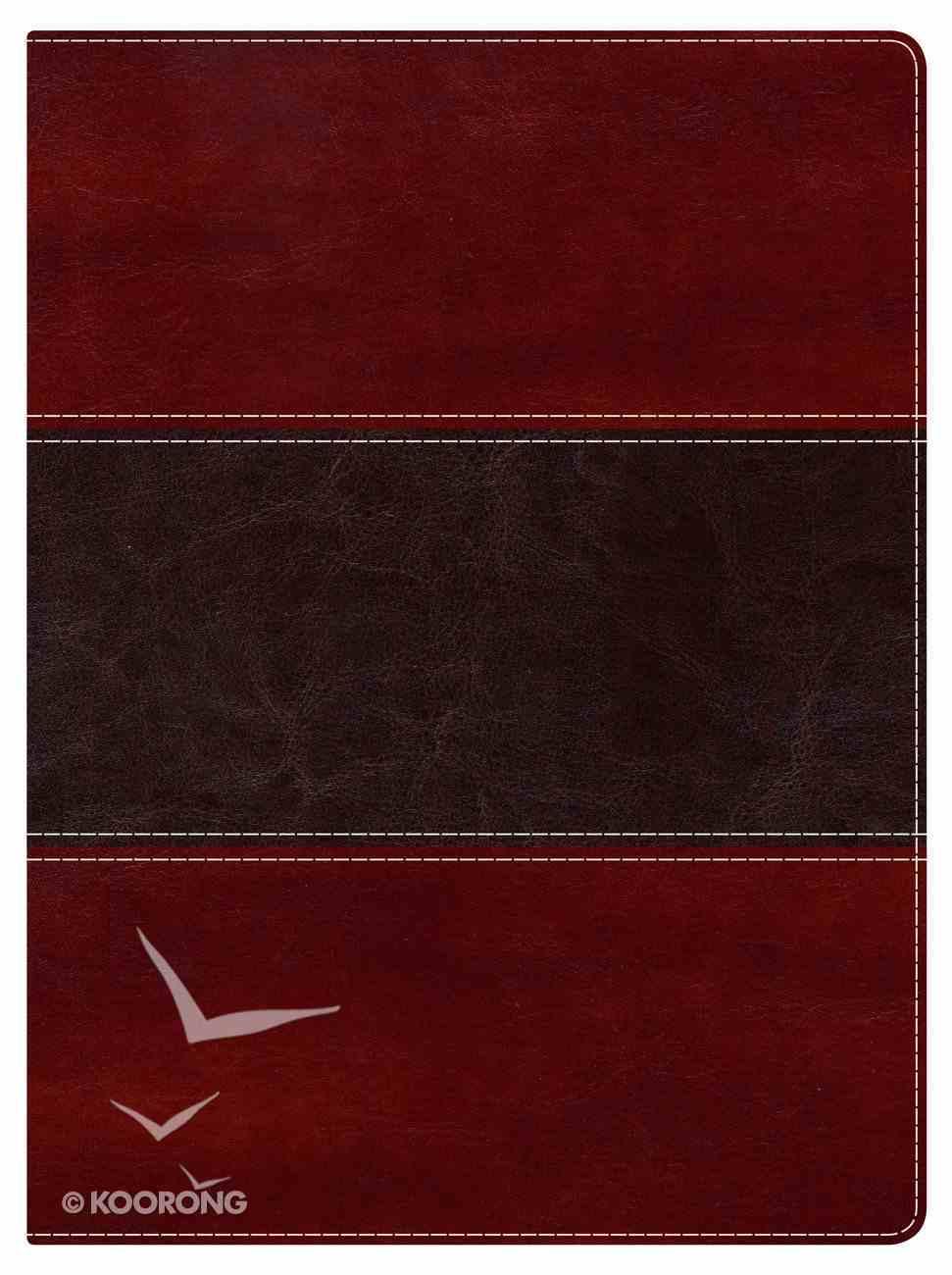 NKJV Holman Study Bible Mahogany Indexed Imitation Leather