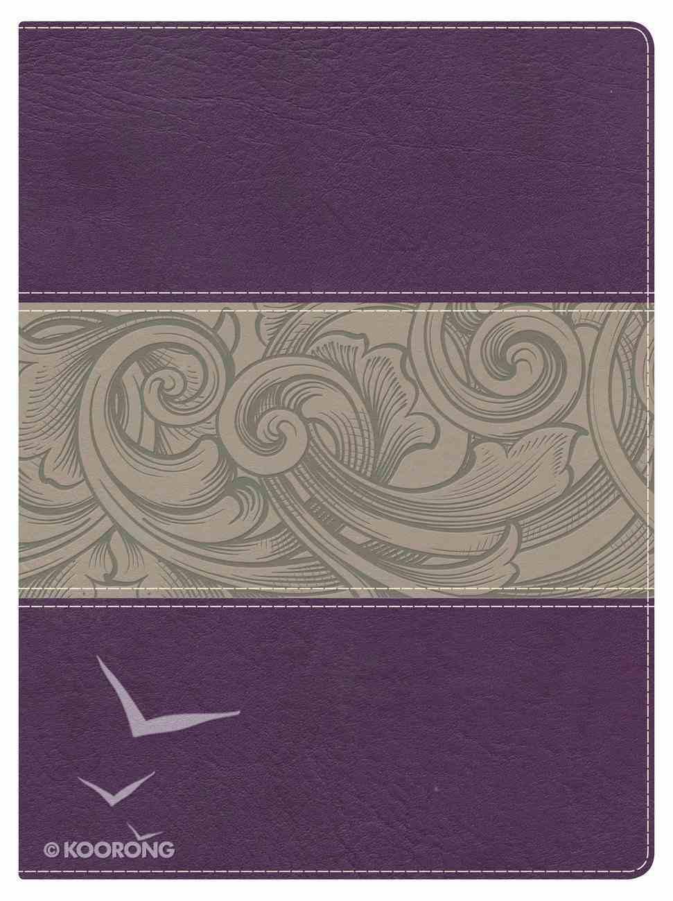 NKJV Holman Study Bible Eggplant/Tan Indexed Imitation Leather