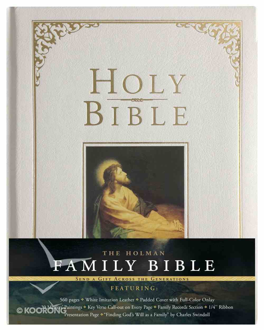 KJV Holman Family Bible White Imitation Leather