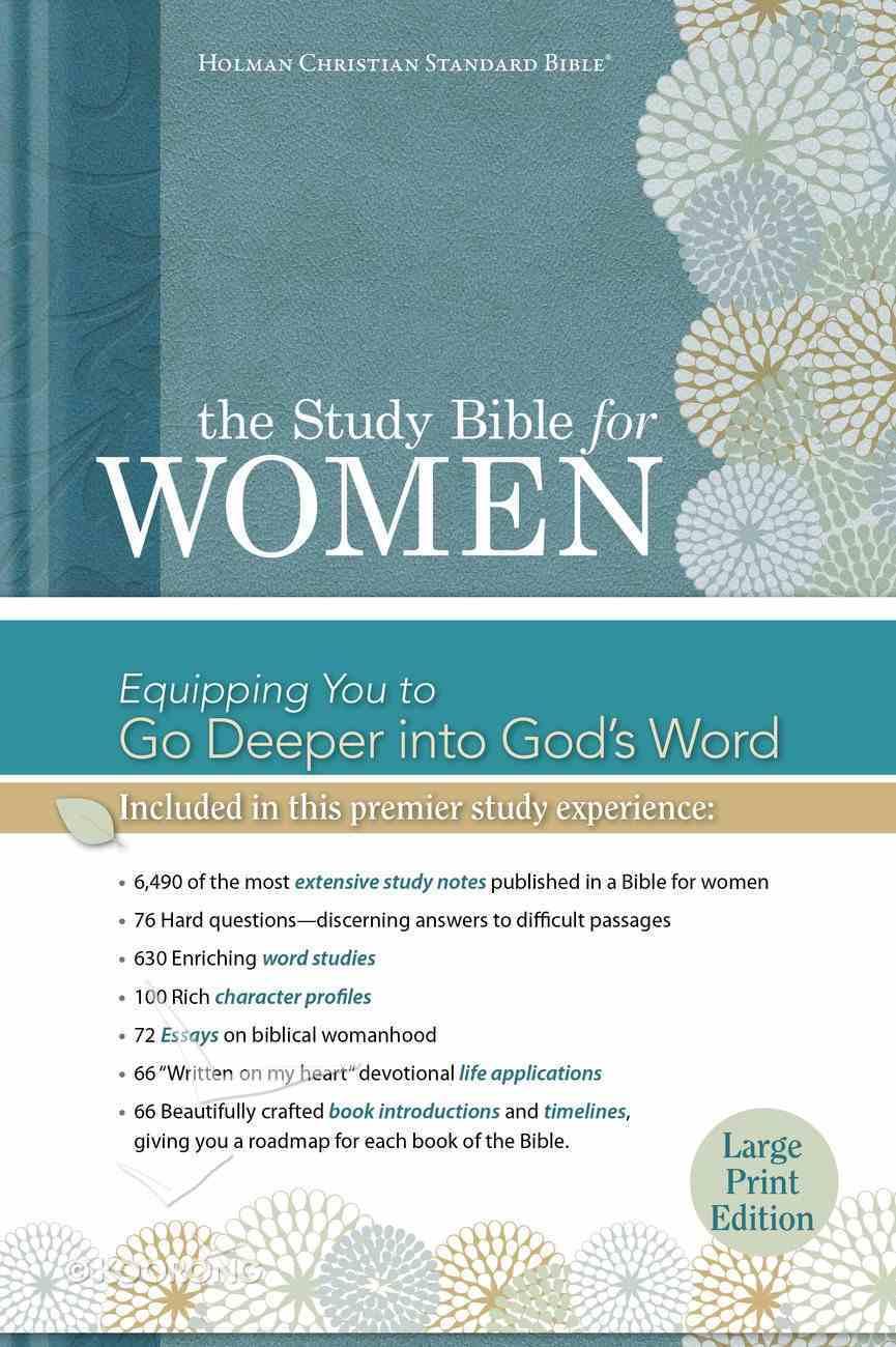 HCSB Study Bible For Women Large Print Hardback